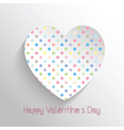 polka dot heart 1812 vector image