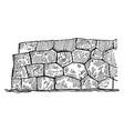 polygonal masonry a technique of stone vector image vector image