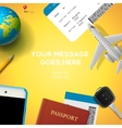 Preparation for travel phone ticket passport vector image vector image