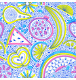 seamless pattern with nutrient-rich raw fruits in vector image