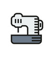 sewing machine icon on white background vector image vector image
