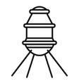 small space capsule icon outline style vector image vector image
