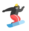 Snowboarder jumping pose on winter outdoor vector image vector image