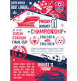 soccer or football sport championship match banner vector image vector image