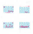 summer retro sign badge banner template vector image vector image