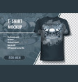t-shirt mock-up template with tattoo studio vector image vector image