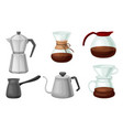teapots and kettles isolated on white background vector image vector image