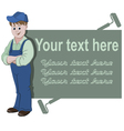 The workman standing with space for text vector image vector image