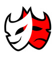 theatre mask symbol vector image