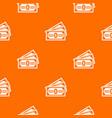 three dollar bills pattern seamless vector image vector image