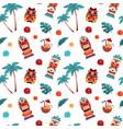 tiki pattern hawaiian and polynesian tropical vector image