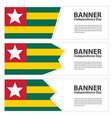 togo flag banners collection independence day vector image