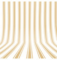 vertical striped yellow background 3d effect vector image vector image