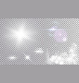 white set of different light effects vector image