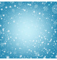 winter poster with snow and blue background vector image vector image
