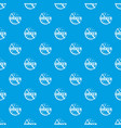 writer pattern seamless blue vector image vector image