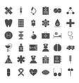 medicine solid web icons vector image