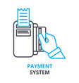 payment system concept outline icon linear sign vector image