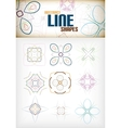 Vintage abstract line shapes set for decorations vector image