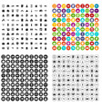 100 property icons set variant vector image vector image