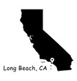 1310 long beach ca on california state map vector image vector image