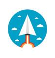 464paper plane launcher icon vector image vector image