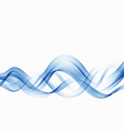 abstract blue wave background blue wave flow vector image vector image