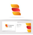 abstract orange red color logo with 3 gradient vector image vector image