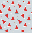 abstract seamless pattern background with winter vector image vector image
