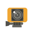 Action Camera in Yellow Case vector image