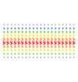 antenna shape halftone spectral effect vector image vector image