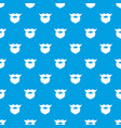 beard and mustache pattern seamless blue vector image vector image
