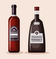 best whiskey set bottles vector image vector image
