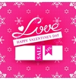 Bright promotional banner for Valentines day vector image