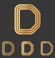 Bronze line d logo design set vector image vector image