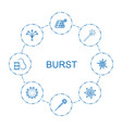 burst icons vector image vector image
