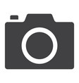 camera glyph icon web and mobile photo sign vector image vector image