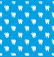 canine tooth pattern seamless blue vector image vector image