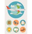 Cargo Plane Icon Set vector image vector image