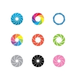color shapes vector image