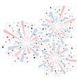 colorful fireworks wallpaper vector image vector image
