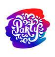 concept of party colorful logo vector image vector image