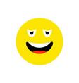 confused face emoji icon flat style cute emoticon vector image