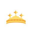 crown monarch jewel treasure luxury vector image vector image