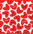 cute cartoons of hearts with different emotions vector image