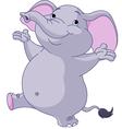 dancing elephant vector image vector image