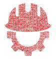 development hardhat fabric textured icon vector image vector image