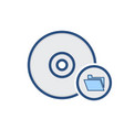 disc disk document drive folder storage icon vector image