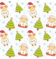 Festive new year winter seamless pattern vector image vector image