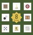 flat icon play set of mahjong labyrinth pawn and vector image vector image